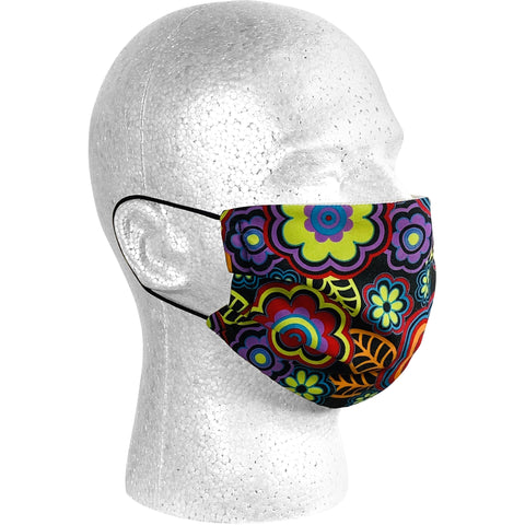 """Groovapalooza"" Face Mask (Black).  **Available in Both Styles**"