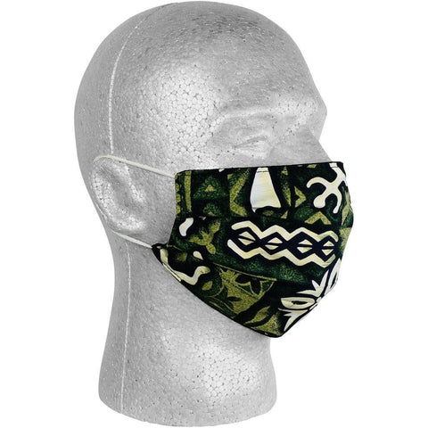 """Jungle Cruise"" Face Mask (Olive).  **Available in Both Styles** - Board Shorts World"