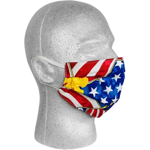 """Old Glory"" 100% Cotton Face Mask (Blue).  **Available in Both Styles** - Board Shorts World"