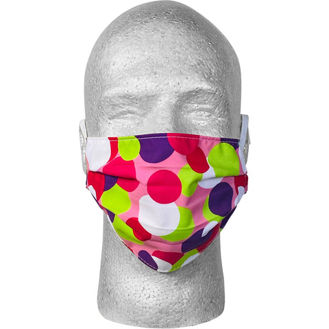 """Coin Toss"" Face Mask (Pink).  **Available in Both Styles**"