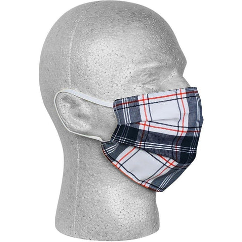 """Casual Friday"" Plaid Face Mask (Black).  **Available in Both Styles** - Board Shorts World"