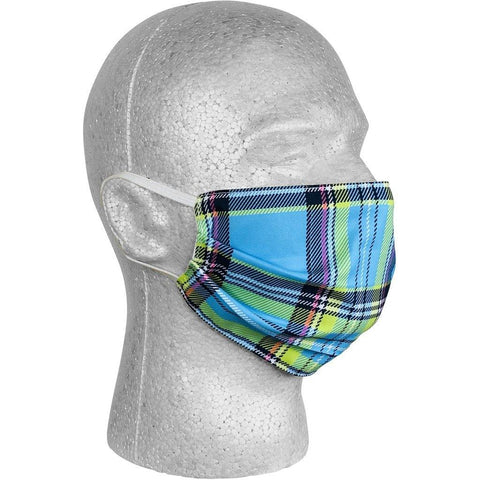 """Casual Friday"" Plaid Face Mask (Blue).  **Available in Both Styles** - Board Shorts World"