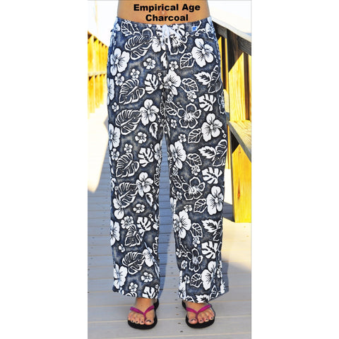 "Womens Board (Swim) Pants - 30"" Inseam. Regular Rise + NON Elastic Waist - PRINTs (Choose from 3 colors!) - Board Shorts World - 1"