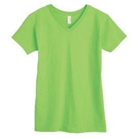 V-Neck Tee (100% Cotton) - Key Lime - Board Shorts World
