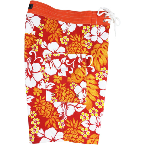 """Pina Colada"" Boys + Girls Board Shorts. 8"" Inseam / 18.5"" Outseam (Orange) *SALE*"