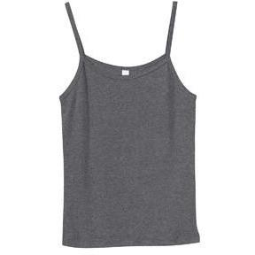 Spaghetti Strap Tank (100% Cotton) - Charcoal - Board Shorts World