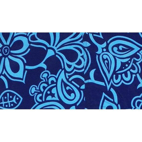 """Blue Heaven"" Womens Elastic Waist Swim Board Shorts. REGULAR Rise + 5"" Inseam - Board Shorts World"