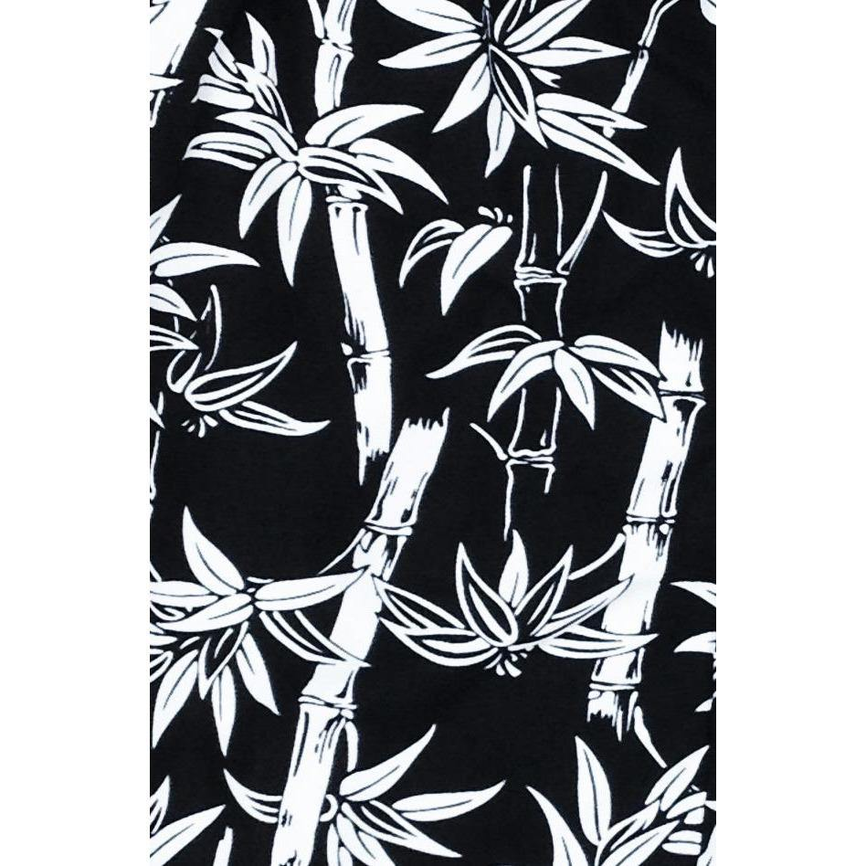 """Branch Out"" Bamboo Print Board Shorts - Regular Rise / 5"" Inseam (Black)"