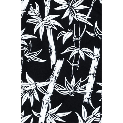"""Branch Out"" Womens Board Shorts - Regular Rise / 10.5"" Inseam (Black) - Board Shorts World"
