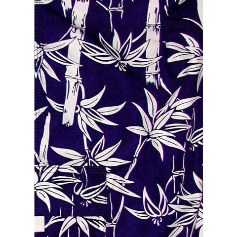 """Branch Out"" Bamboo Print Hipster Board Skirt (Navy)"