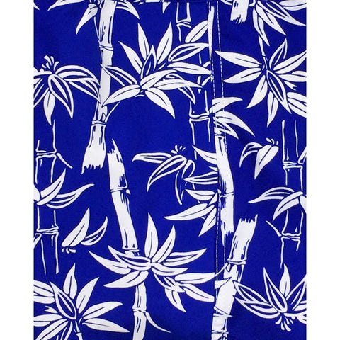 """Branch Out"" Bamboo Print Hipster Board Skirt (Royal)"