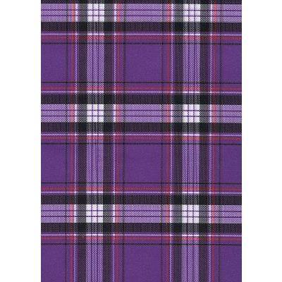 """ Casual Friday"" Plaid Womens Elastic Waist Swim Board Shorts. REGULAR Rise + 11"" Inseam (Purple)"