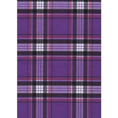 """Casual Friday"" Plaid Mens Elastic Waist Board Shorts - 17.5"" Outseam / 5"" Inseam (Purple) - Board Shorts World"