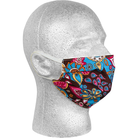 """Carnival"" Face Mask (Brown) - Board Shorts World"