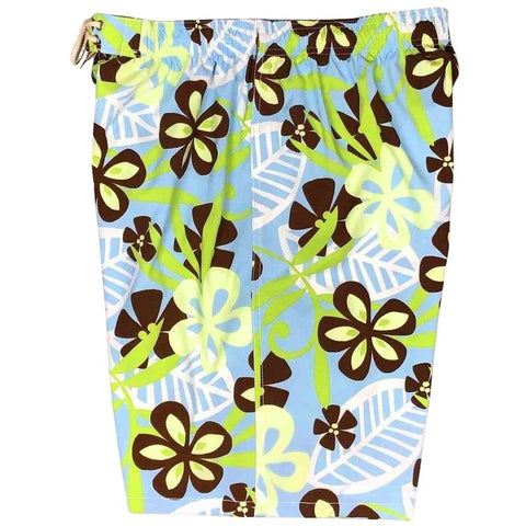 """License to Chill"" Mens Elastic Waist Board Shorts - 22"" Outseam / 9.5"" Inseam (Light Blue)"