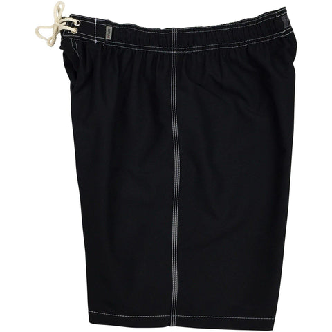 """A Solid Color"" Mens Elastic Waist Board Shorts - 19.5"" Outseam / 7"" Inseam (Black+White Stitching and 11 other LIGHT and BRIGHT colors!) - Board Shorts World - 1"