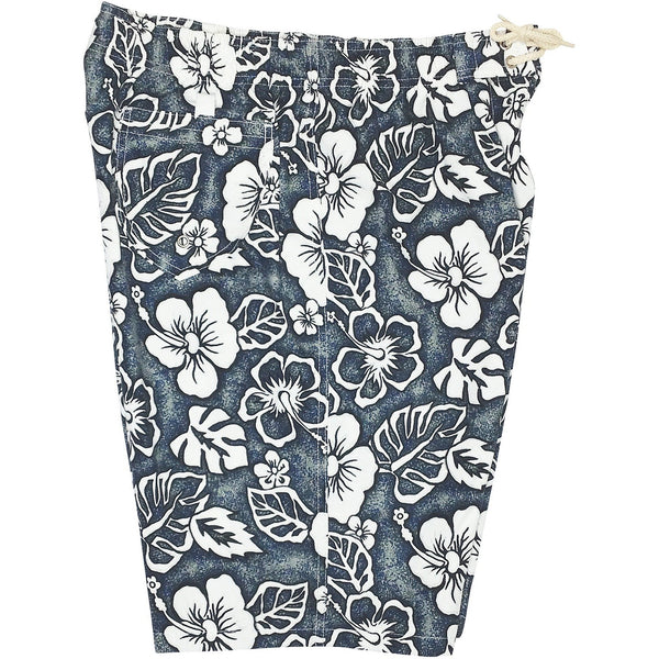 """Empirical Age"" Womens Elastic Waist Swim Board Shorts. REGULAR Rise + 11"" Inseam (Charcoal or Orange) - Board Shorts World - 1"