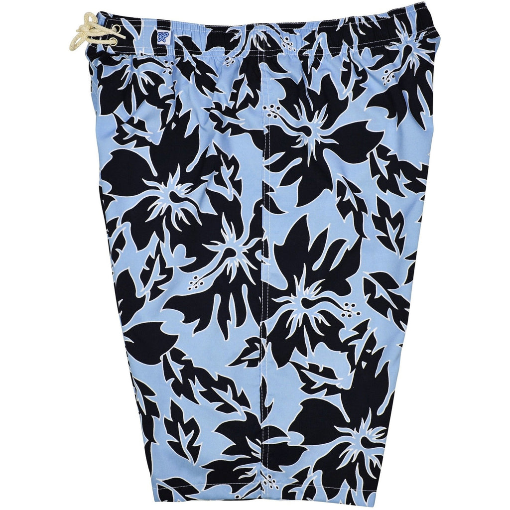 """Generally Electric"" Womens Elastic Waist Swim Board Shorts. HIGH Rise + 11"" Inseam **SALE** - Board Shorts World"