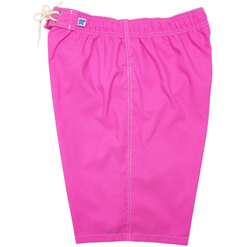 """A Solid Color"" Women's Elastic Waist (Swim) Board Shorts. REGULAR Rise + 11"" Inseam (Hot Pink, Baby Blue, Grape, Red, or Orange) - Board Shorts World - 1"