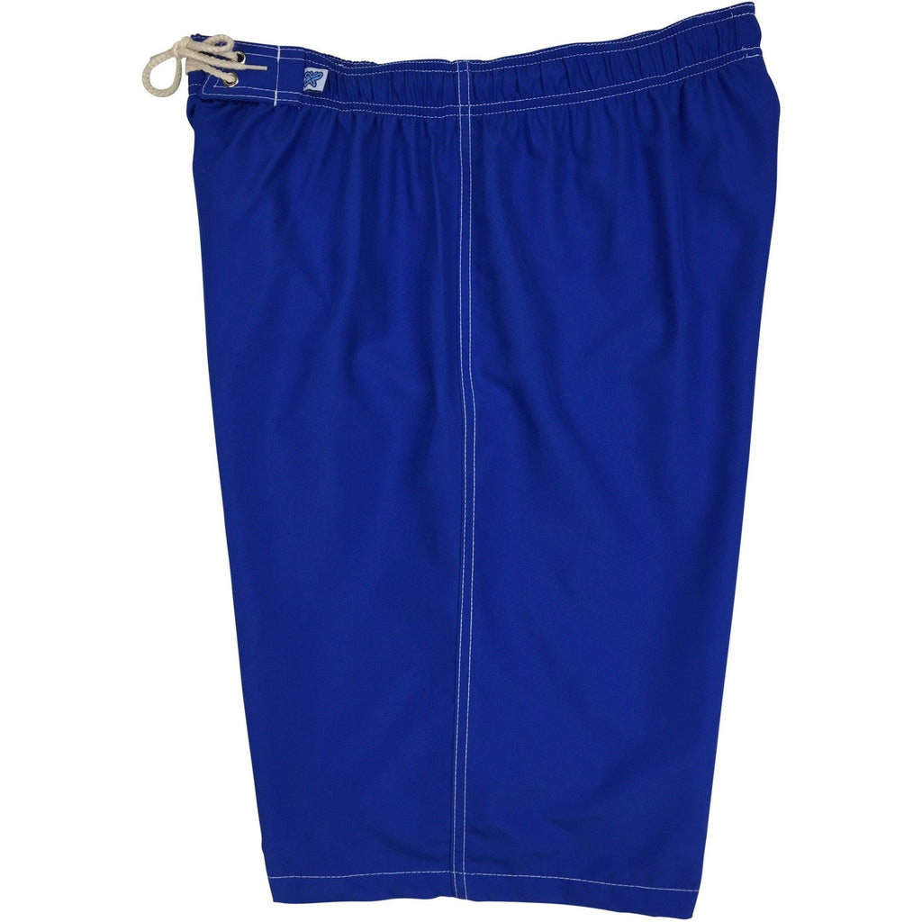 """A Solid Color"" Women's Elastic Waist (Swim) Board Shorts. REGULAR Rise + 11"" Inseam (Pacific) - Board Shorts World"