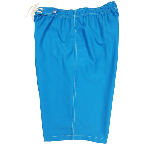 """A Solid Color"" Women's Elastic Waist (Swim) Board Shorts. HIGH Rise + 11"" Inseam (Turquoise) - Board Shorts World"