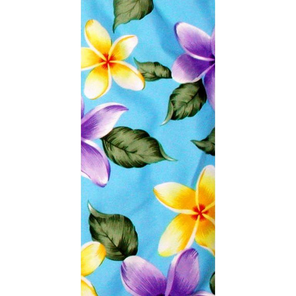 """Free Roaming"" Plumeria Print Head Band (Black, Turquoise, Red, or Pink) - Board Shorts World - 2"