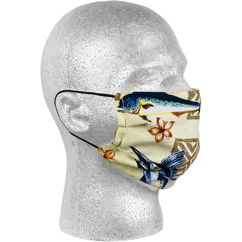 """Gulf Stream"" Face Mask (Natural) - Board Shorts World"