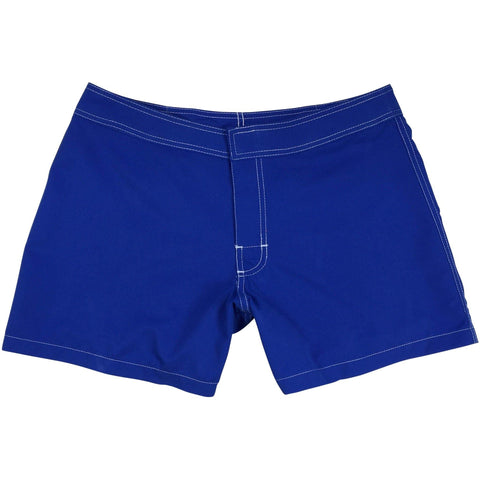 """A Solid Color"" No Drawcord Womens Board (Swim) Shorts - Regular Rise + 5"" Inseam (Royal) *SALE*"
