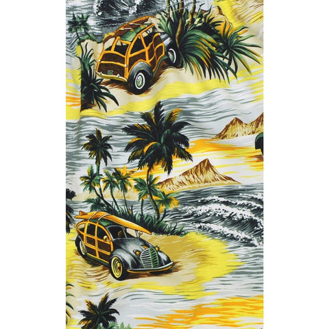 "Elastic Waist Board Shorts ""Getaway Car"" (Charcoal) Print Mens CUSTOM - Board Shorts World"
