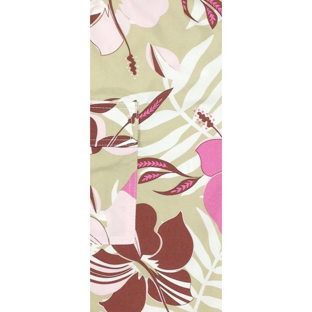 """Gypsy Soul""  Womens Board (Swim) Capris - NON Elastic Waist  + Regular Rise + 23"" Inseam (Tan) *SALE*"