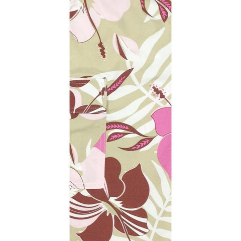 """Gypsy Soul"" Womens Board (Swim) Capris - ELASTIC Waist  + Regular Rise + 23"" Inseam (Tan)"