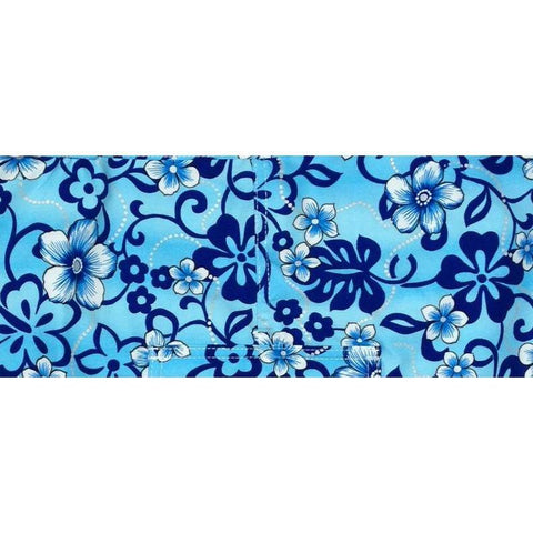 """Haywire"" Print Face Mask (Blue) - Board Shorts World"