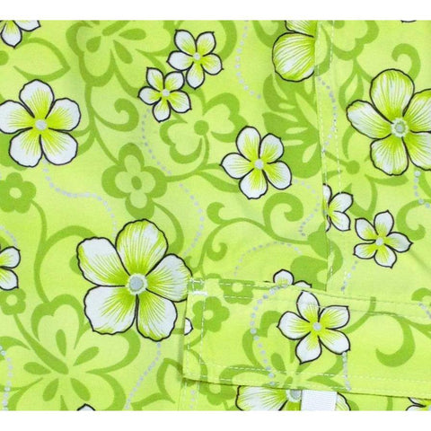 """Haywire"" Print Board Shorts for Little Boys + Girls (Green) - Board Shorts World"