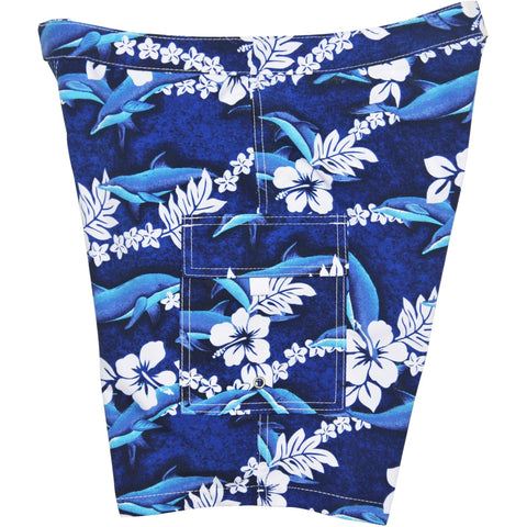 """Fins"" Womens Board Shorts - Lower Rise / 11"" Inseam - Board Shorts World"