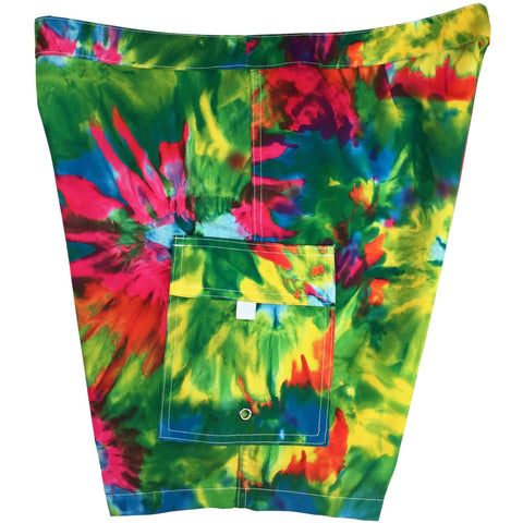 """Love N Haight"" Womens Tie Dye Board Shorts - Lower Rise / 11"" Inseam"