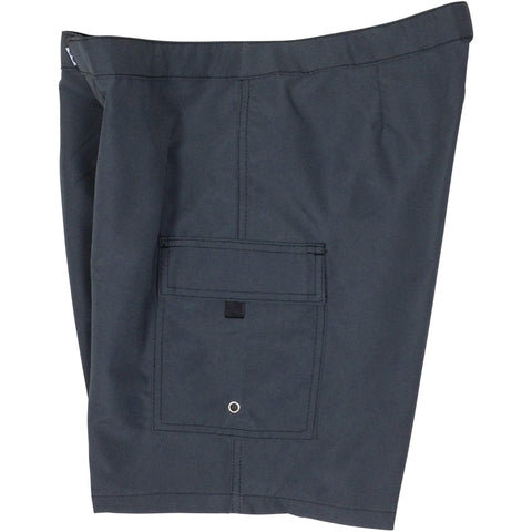 """A Solid Color"" Women's (Swim) Board Shorts - LOWER Rise + 11"" Inseam (Charcoal, Forest, or Red) - Board Shorts World - 1"