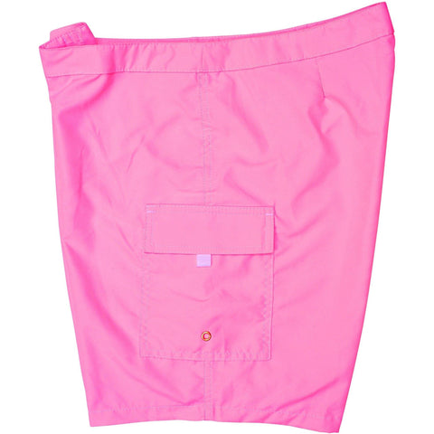 """A Solid Color"" Women's (Swim) Board Shorts - LOWER Rise + 11"" Inseam (Hot Pink, Pacific Blue, or Aqua) - Board Shorts World - 1"