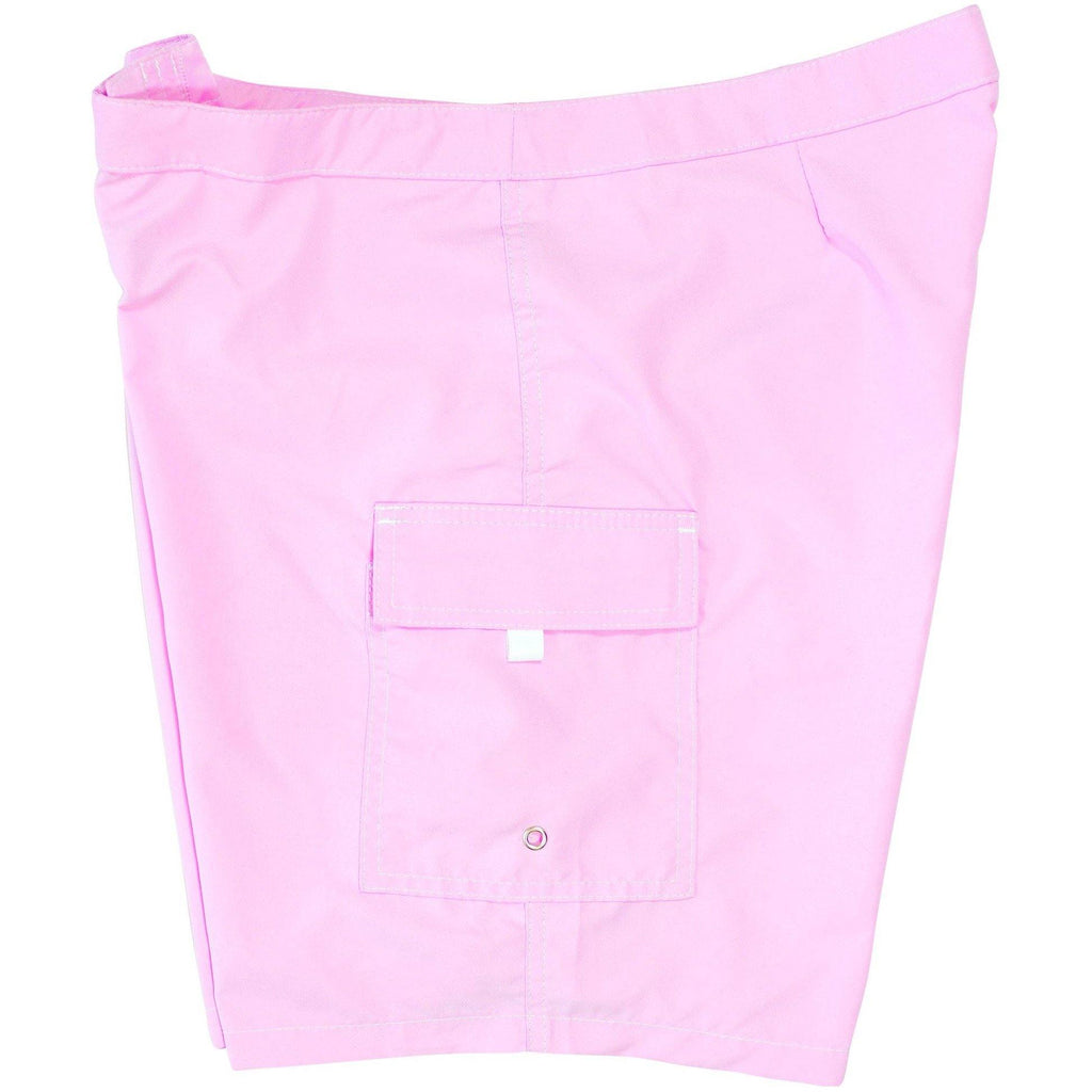 """A Solid Color"" Women's (Swim) Board Shorts - LOWER Rise + 11"" Inseam (Light Pink, White or Stone) - Board Shorts World - 1"