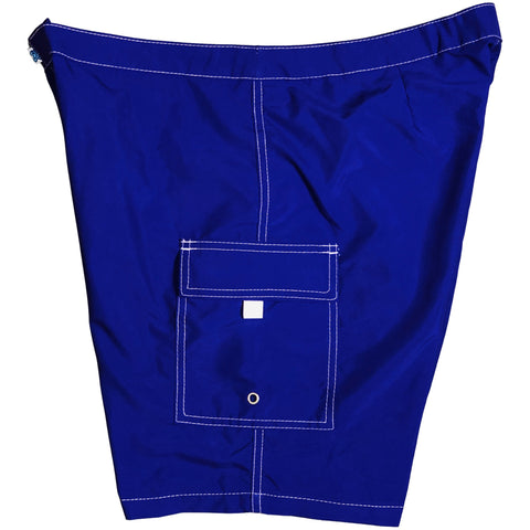 """A Solid  Women's 11"" Lower Rise Board/Swim Shorts (Royal)"