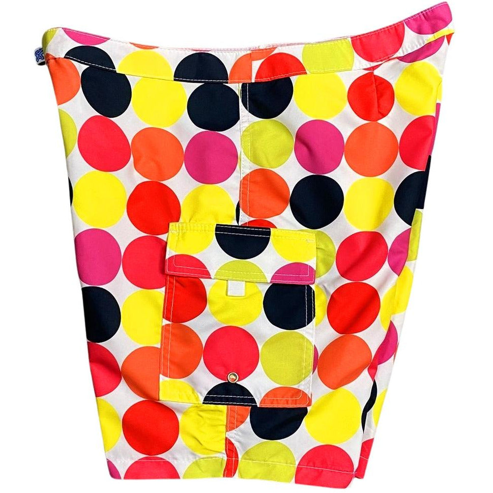 """Twister"" (Multi) Womens Board/Swim Shorts - 11"""