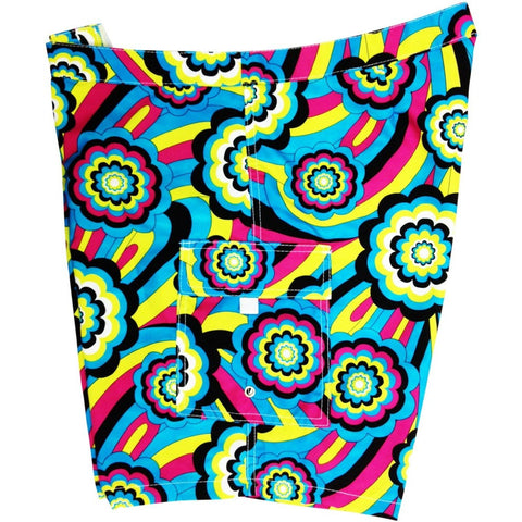 """Yellow Brick Road"" Womens Board Shorts - Lower Rise / 11"" Inseam (Turquoise, Orange, Red, Green or Purple) - Board Shorts World - 1"