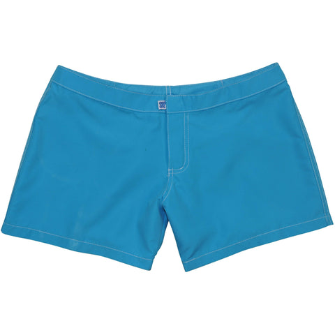 "***NEW*** ""A Solid Color"" Women's (Swim) Board Shorts - Lower Rise / 4"" Inseam (Turquoise)"