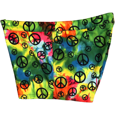"""Sign Language"" Tie Dye Womens Board Shorts - Lower Rise / 4"" Inseam"