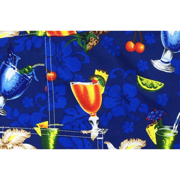 """Hurry Sundown"" Cocktails Print Hipster Board Skirt (Black, Blue, or Sand) - Board Shorts World - 2"