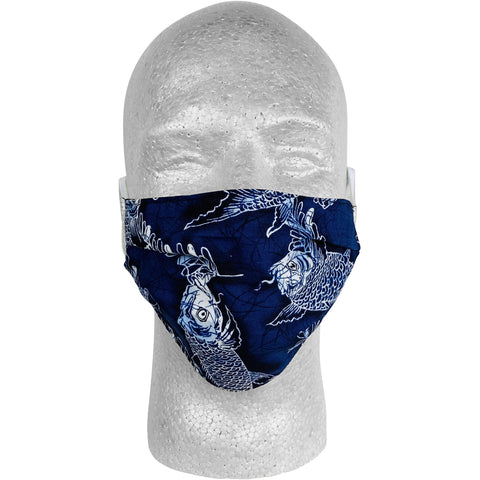 """So Coy"" 100% Cotton Face Mask (Blue)"