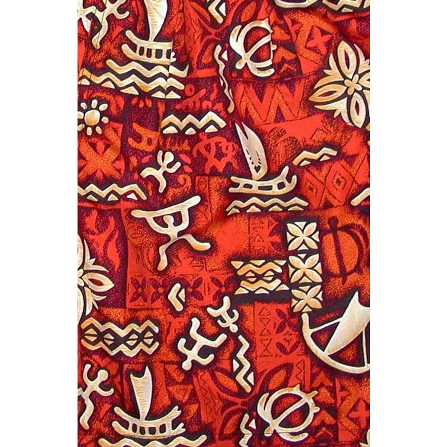 """Jungle Cruise"" Boys + Girls Board Shorts. 8"" Inseam / 18.5"" Outseam (Red) *SALE*"