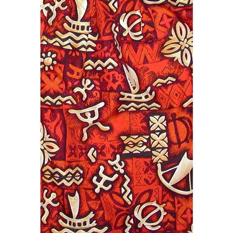 """Jungle Cruise"" Hipster Board Skirt (Red) - Board Shorts World"