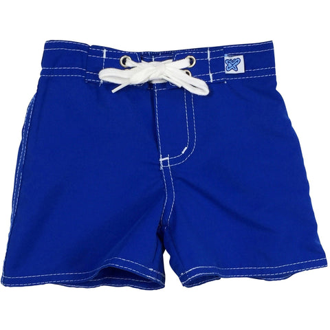 """Lost Weekend"" Board Shorts for Little Boys + Girls (Royal, Orange, Hot Pink, or Turquoise ) - Board Shorts World - 1"