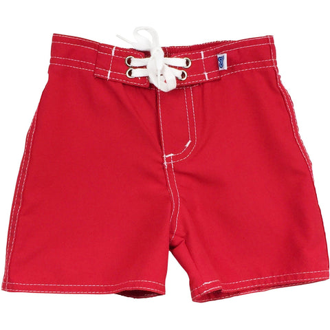 """Lost Weekend"" Board Shorts for Little Boys + Girls (Red, Baby Blue, Mango or Grape) - Board Shorts World - 1"