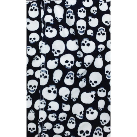 """Live to Ride"" Skulls Print Mens Board Shorts w/ Dual Cargo Pockets.  17.5"" Outseam / 5"" Inseam (Charcoal, White or Red) - Board Shorts World - 2"